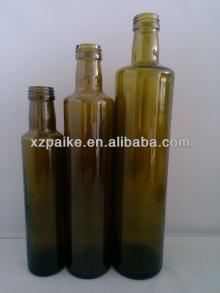 Dark Green Glass Olive Oil Bottles with aluminum cap