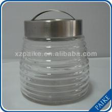 380ml clear  round  honey/candy/food/storage  glass   jar