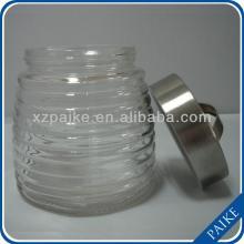 clear round honey/candy/food/storage glass jar
