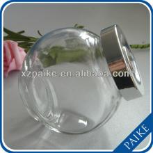 500ml clear round honey/candy/food/storage glass jar