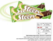 Big Steers milky compound coated nougat caramel and peanut bar