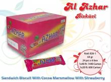 Al Azhar Sandwich Biscuit With Cocoa Marshmallow With Strawberry 64 gr.