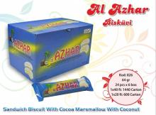 Al Azhar Sandwich Biscuit With Cocoa Marshmallow with Coconut 64 gr.