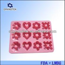 Love heart bird flower leaf silicone fondant gum paste icing molds for cake decorating