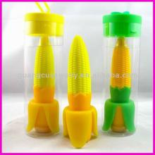 fashion plastic yellow corn shaped pens for decoration