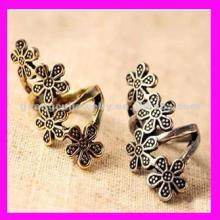 fashion cinnamon color flower rings costume jewelry for young lady