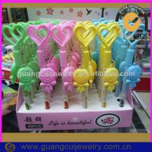 fashion newest plastic hotsale cartoon cute heart lollipop pen ballpoint