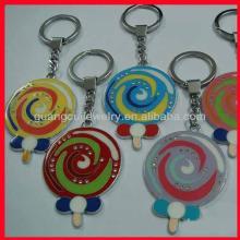 fashion zinc alloy logo lollipop shaped keychain