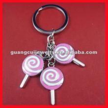 fashion zinc alloy lollipop key chain