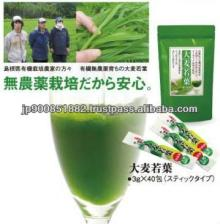 Organic  green   barley   powder  juice