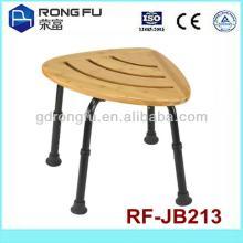 L56xW41xH34-46CM(6holes)bath wooden shower chair for disable/elderly (Foshan)