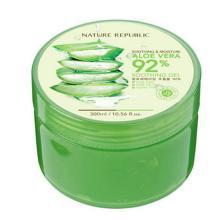 Hot sale Soothing & Moisture Aloe Vera 92% Soothing Gel Cosmetics of Korea