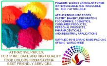 Synthetic Food Colours, Natural Food Colours & Lake Pigment Food Colours, dye