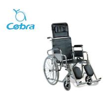 high backrest and adjustiable footrest manual wheelchair for medical supplies
