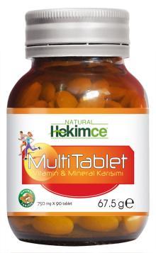 Multi Tablet Mineral Vitamin Mix Natural Herbal Vital Health Food Supplement