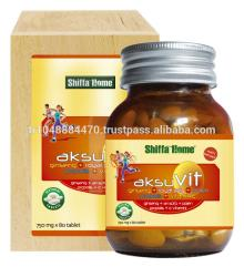 AksuVit Natural Herbal  Vitamin   Health   Food  Supplement Tablet with Ginseng