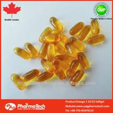 Health Canada GMP Certified private label natural Omega 3 Vitamin E softgel capsule
