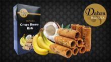 Crispy Healthy Banana Homemade Rolls,100 g