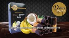Crispy Healthy Choco Banana Homemade Rolls,72 g