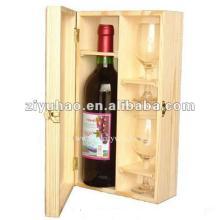 Fashion Design Red Wine  Wooden  Box For Sale