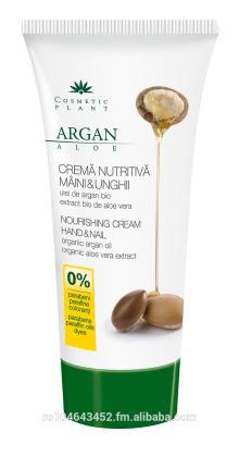 Hand & nail nourishing cream with organic argan oil and organic aloe vera extract