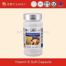 Vitamin E softgel ,GMP certified Nutrition Supplement Vitamin E Soft Capsule