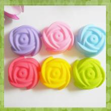 cute rose shape cake decoration silicon forms for cooking