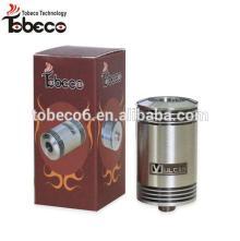 2014 Tobeco Vulcan RDA Atomizer with 3 kinds screws 1:1 Clone Atomizer Vulcan RDA, Black/SS Color Vu