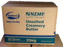 NZ frozen butter
