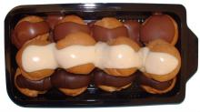 Profiterole tower, chocolate covered