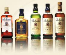 Ballentines Scotch Whisky Finest, 12, 17, 21 Years Old