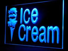 110046B Open Ice-Cream Cafe Mini Bar Chocolate Sundae Raspberry LED Light Sign