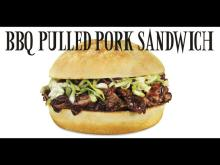 Bn1378  Bbq  Black Pepper Sauce Pork Sandwich Juicy Spicy Meat Sweet Banner Sign