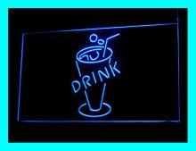 110170B Cold Drink Cup Refreshing Ice Tea Champagne Milk Display LED Light Sign