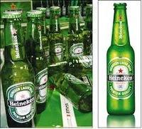 Green Bottles Pack Cans Beer Heinekens....