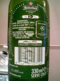 Green Bottles Pack Cans Beer ....He..i..n..e...ken....
