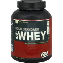 Optimum Nutrition Gold Standard 100% Whey Protein, Vanilla Ice  Cream  - 5 lb  jar