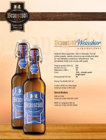 Braustuebl Weissbier alkoholfrei ( non alcohol )