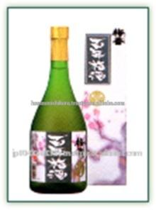 Various types of Japanese plum fruit wine at reasonable price