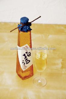 Japanese rice wine, plum wine, alcoholic beverage bottle