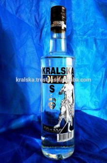 KRALSKA VODKA S - 37,5% - 700ml. - Multiple Distilled clear vodka