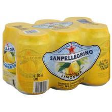 Sanpellegrino Limonata Sparkling Lemon Beverage, 66.9FO (Pack of 4)
