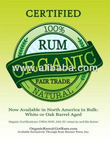 Certified Organic Rum in Bulk