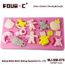 Nursery  cake decorating mould,high quality silicone mould for fondant craft