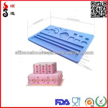 2014 Silicone fondant mold,most popular  cupcake  decorating mould,cake decorating mold