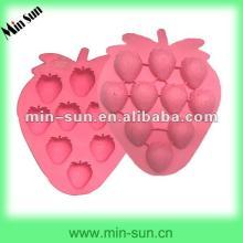 US food grade custom silicone cake pan/cake decoration strawberry
