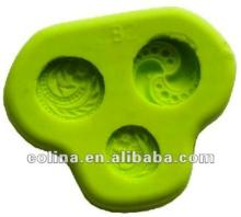 Silicone fondant push mold,Cake decoration mould