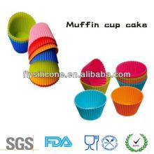 Food safe muffin cup cake molds for kids, mini silicone cake decorating molds