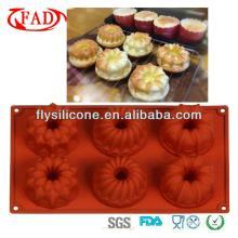 New design silicon 3d cake decoration mold hot sale with LFGB&FDA certificate