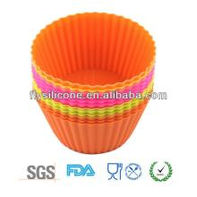 Multifunction silicone kitchen cupcake mould for chocolate&jelly&cake decorations